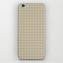Grey Beige Houndstooth Pattern iPhone Skin