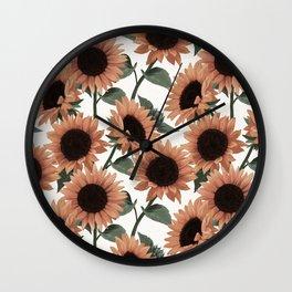 terracotta sunflowers Wall Clock