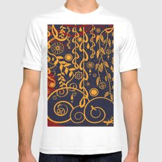 Under the Red Tree White Mens Fitted Tee MEDIUM