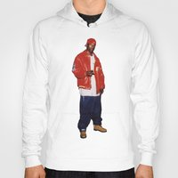 2pac Hoodies featuring Big L  by Gold Blood