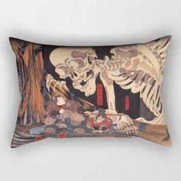Takiyasha The Witch And The Skeleton Spectre By Utagawa Kuniyoshi Rectangular Pillow