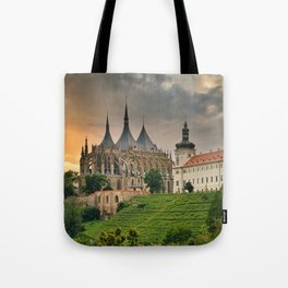 Gothic Cathedral of St. Barbara Tote Bag