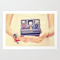 polaroid Art Prints featuring Polaroid by Irene Miravete