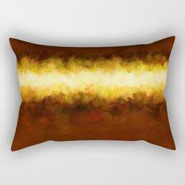 Liquid Gold Sunbeam with Burnished Bronze Rectangular Pillow