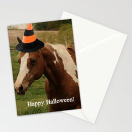 Happy Halloween Paint Horse Stationery Cards