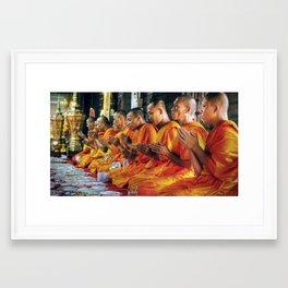 Monastery - Bangkok - Thailand Framed Art Print