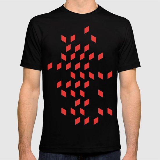 rhombus bomb in poppy red T-shirt