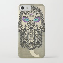 Elephant Hamsa Tree Ying Yang A403 iPhone Case