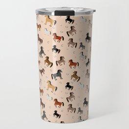 Horse Pattern | Horseback Riding Pony Stallion Travel Mug