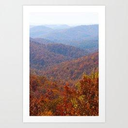 North Carolina Mountains Art Print