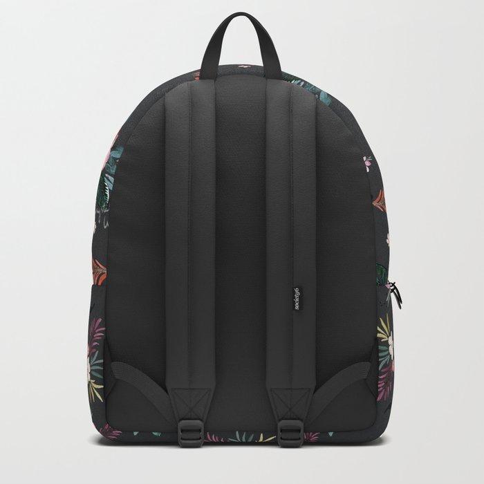 Layla - Tropical Floral - black Backpack