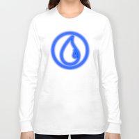 magic the gathering Long Sleeve T-shirts featuring Magic the Gathering, Neon Blue Mana by Thorn Blackstar