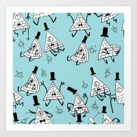 gravity falls Art Prints featuring Gravity Falls - Bill Cipher by desmormos