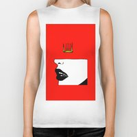 lip Biker Tanks featuring Lip King by Keith Cameron