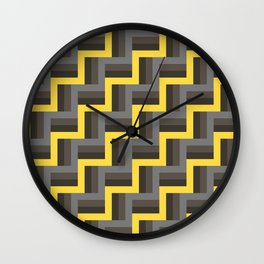 Plus Five Volts - Geometric Repeat Pattern Wall Clock
