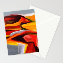 The Present Abstract Landscape Stationery Cards