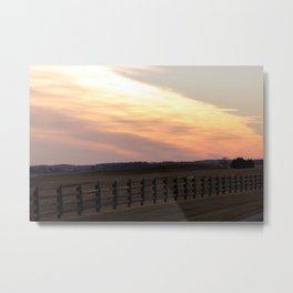 Wisconsin Fall Sunset Metal Print