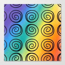 Swirls and Rainbows Canvas Print