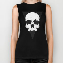 Geometric skull Biker Tank