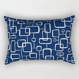 On The Quad - Navy Blue Rectangular Pillow