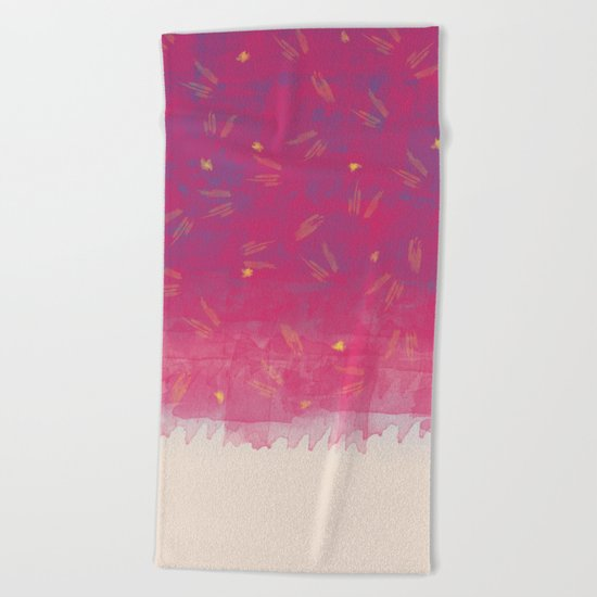 Abstract Beach Drapes Design Beach Towel