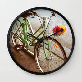 MINTY BIKE Wall Clock