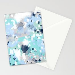 Riley - abstract gender neutral nursery home office dorm decor art abstract painting Stationery Cards