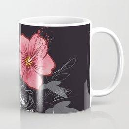 Anatomical heart with flower Coffee Mug