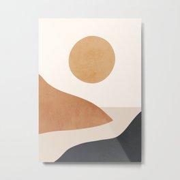 Minimal Abstract Art Landscape 9 Metal Print