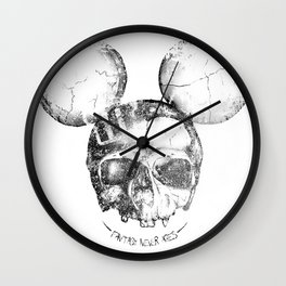 Mickey Skull Wall Clock