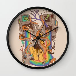 A Fragmented Reality Wall Clock