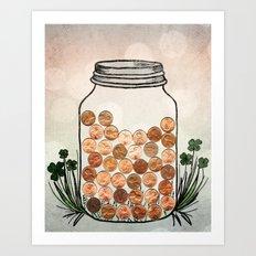 Lucky Pennies Art Print
