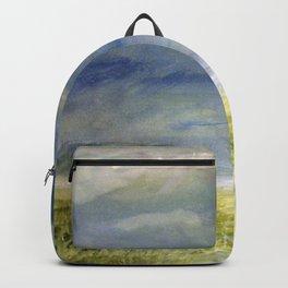 Sea Shore Watercolor Ocean Landscape Nature Art Backpack