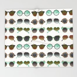 Sunglasses Collection – Mint & Tan Palette Throw Blanket