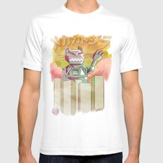 Mecha Catzilla Mens Fitted Tee MEDIUM White