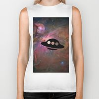 ufo Biker Tanks featuring UFO by Ace of Spades