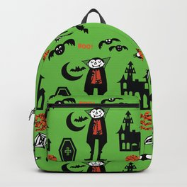 Cute Dracula and friends green #halloween Backpack