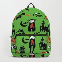 Cute Dracula and friends green #halloween Backpack