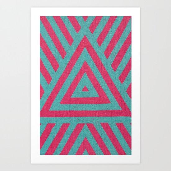 Triangle Power Art Print