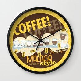 Málaga Coffee Wall Clock
