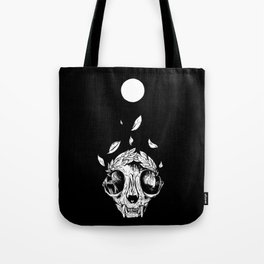 The concept of winning (lucky cat skull + laurel wreath) Tote Bag