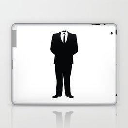 Anonymous Headless Tuxedo Suit Silhouette Man Laptop & iPad Skin