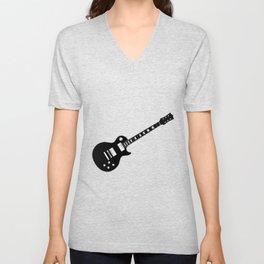 Black Guitar Unisex V-Neck