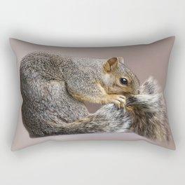 Shy squirrel Rectangular Pillow