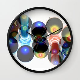 lightpost planets Wall Clock