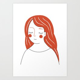Red Haired Woman Art Print