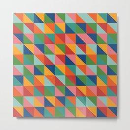 Bright geometric pattern Metal Print