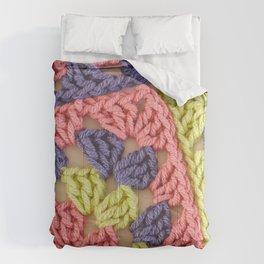 Bright Colored Granny Squares Comforters