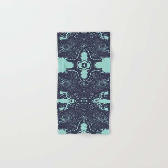 Shinzi - spilled ink abstract painting marble japanese paper marbling unique original art print Hand & Bath Towel