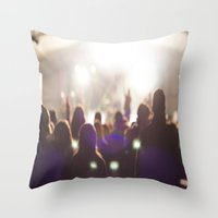 concert Throw Pillows featuring Concert by LaiaDivolsPhotography